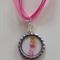 Aurora Sleeping Beauty Princess Boutique Bottlecap Pendant Necklace