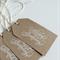 White Happy Birthday on Kraft Gift Tags - Set of 6