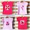 Girls Bright Tees T-shirts, Hippo, Icecream, Flower, Bear Cotton. Sizes 2, 3, 5