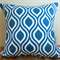 "teal /aquarius geometric ""Nicole"" cushion"