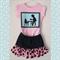 Girls Tea Party Skirt & T-shirt Set. Vintage Silhouette, Denim, Cotton. Size 2
