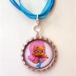 Deema Bubble Guppies Boutique Bottlecap Pendant Necklace (or you choose your cha