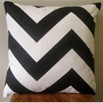 Free Shipping - Black & White Large Chevron Zig Zag Cushion Cover