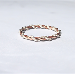 Two toned twisted rope ring