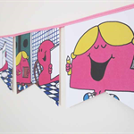 Little Miss - Chatterbox Bunting. Perfect for decorations, bedrooms, parties.