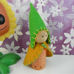 Spring Wooden Peg Gnome