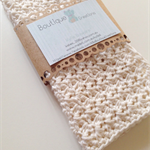 Crochet Face Cloth, Cotton in Cream set of 2