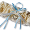 Wedding Garter , beautiful personalised blue satin and Ivory Lace with heart