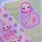 Girls Room - Fabric Babushka Doll Bunting - Pastel Colours - 3m