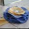 Headband - Blue & Lemon Silk
