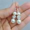 Ivory Pearl Earrings, Pearl Drop Earrings, Cream Pearl and Rhinestone Earrings