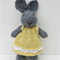Felicity the Knitted Bunny Rabbit Toy with lovely Lemon Yellow Party Dress