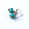 Turquoise Melon and Gold Earrings