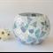 Spring floral mosaicked vase