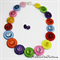 I can Sing a Rainbow Buttons Necklace  - Jewellery - Earrings
