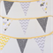 Bunting Flags for Baby Nursery in Yellow & Grey Elephant prints