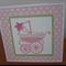 Baby Card - Pink Pram