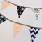 Bunting Flags for Baby Nursery in Neutral Brown Teepee Design