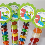 8 Pack Dinosaur Boy Lolly Tube Birthday Party Favour