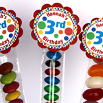 8 Pack Sesame Dots Lolly Tube Birthday Party Favour #LT0017