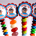 8 Pack Pirate Lolly Tube Birthday Party Favours #LT0016