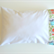 Toddler Pillowcase White with Cream Forest Friends Cuff - 36cm x 54cm