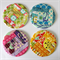 4 x Quilted Circle Coasters - Rainbow Log Cabins