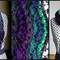 Green and purples infinity scarf