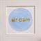 Dream Round Circle Inspirational Watercolour Art Blue Gold Metallic