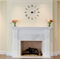 Roman Numeral Wall Clock Wall Decal - Choose your Colour