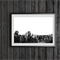 Treescape Minimalist Black and White 8x12 Print Australia Country Photography