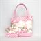 Mini Tote Bag & Purse - Pink & Cream Floral