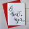 I Love You Card Letterpress Card