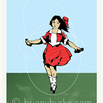 Little Audrey - Skipping Girl Vinegar Neon Vintage Sign 5x7 Art Print/Wall Art
