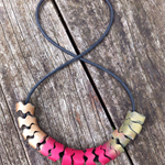 Graduated colour polymer clay necklace