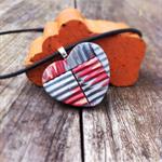 'Rusty tin' corrugated pendant