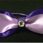 Satin bow hair elastic