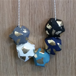 Handmade  geometric polymer clay necklace