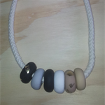 Handmade Polymer Clay Rope Necklace