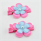 Pink & Blue Flower Hair Clip Pair
