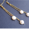 Lisanne Earrings Freshwater Pearl Ivory White Gold Bridal Wedding