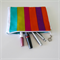 Zippered makeup/pencil/jewelry pouch/bag - cotton canvas - waterproof lining