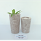 Concrete Duo - Tealight Candle Holder & Succulent Planter Set - Urban Decor