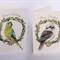 bundle of 8 Christmas cards - Australian wildlife in a gum leaf wreath