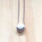 SILVER TINY DOT PENDANT NECKLACE - FREE SHIPPING WORLDWIDE