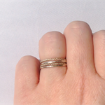 Stacking rings, sterling silver, set of four, knuckle rings