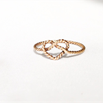 Love heart knot ring, stacking ring, knuckle ring