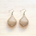 MATTE GOLD GRID EARRINGS - FREE SHIPPING WORLDWIDE