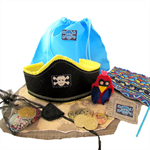 Pirate Play Set, Treasure Map, Pirate Flag, Pirate Adventue Set