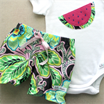 spring burst | baby bloomer shorts & watermelon onesie | size 00
